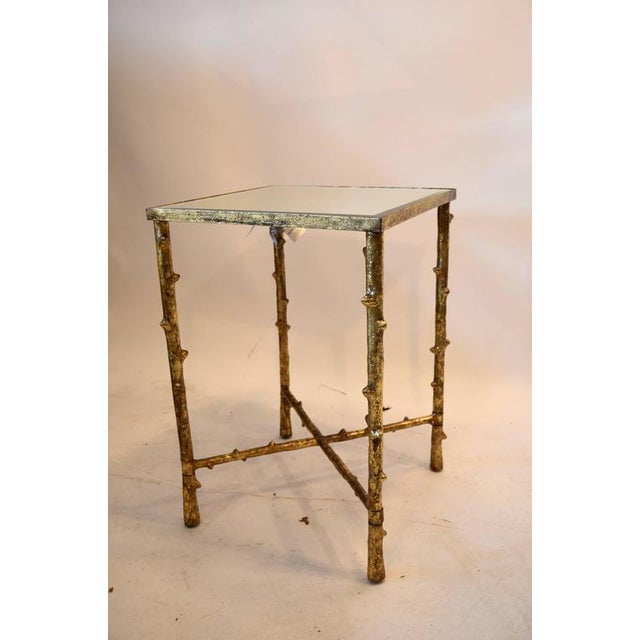 Asian 1980s Vintage Beveled Mirror Top Side Table For Sale - Image 3 of 7