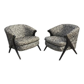 Mid Century Modern Karpen Bros Style Club Chairs - a Pair For Sale