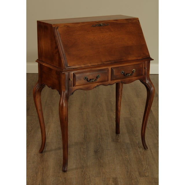 High Quality American Made Solid Maple & Birch Wood Slant Lid Secretary Desk with Dovetailed Drawer by Ethan Allen Store...
