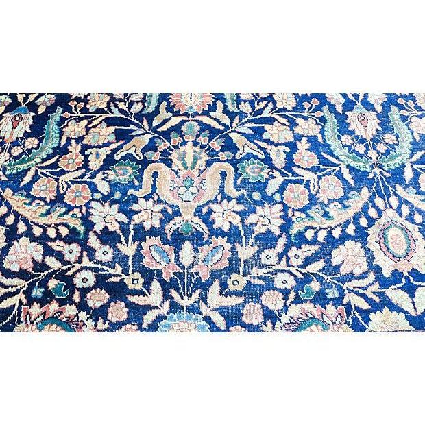 "Islamic Antique Persian ""Tabriz"" Handmade Rug - 9′ × 12′ For Sale - Image 3 of 8"