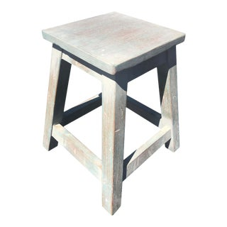Painted Pine Stool or Small Table For Sale