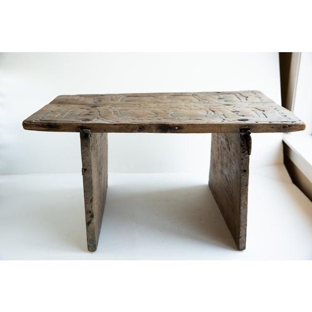 Miraculous 20Th Century Primitive Elaborately Carved Wood Stool Creativecarmelina Interior Chair Design Creativecarmelinacom