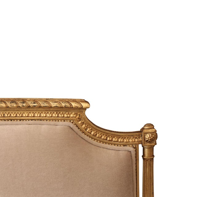 Gold Gilded French Settee For Sale - Image 8 of 10
