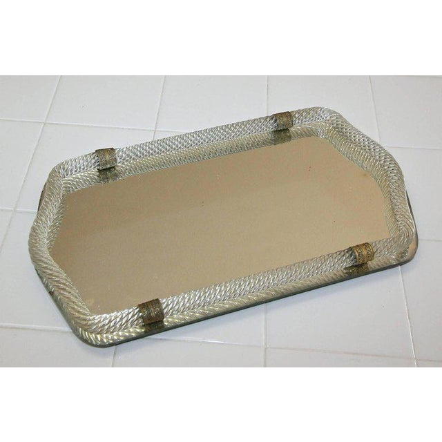Italian Murano Twisted Glass Rope Vanity Tray For Sale - Image 10 of 11