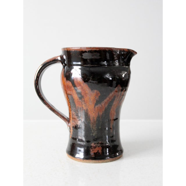 Late 20th Century Vintage Studio Pottery Pitcher For Sale - Image 10 of 10