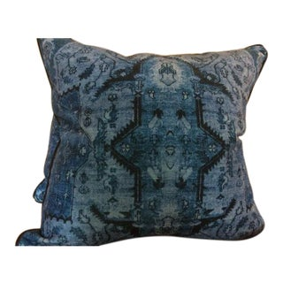 Ralph Lauren Pillows in Blue Anglesey Pattern - a Pair For Sale