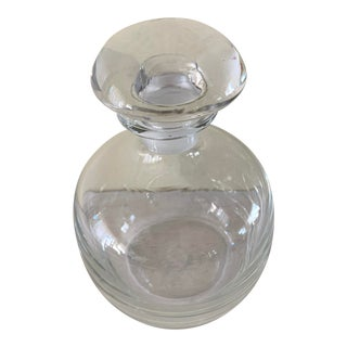 Vintage Glass Decanter Bar Ware Bottle For Sale