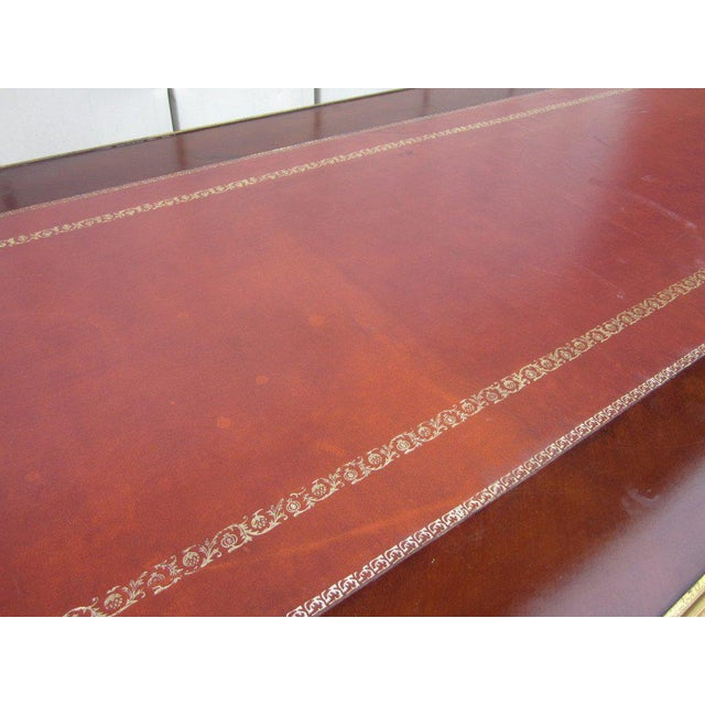 French Empire Style Desk with Leather Top For Sale In New York - Image 6 of 10