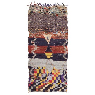 Vintage Moroccan Rug - 3′ × 6′6″ For Sale