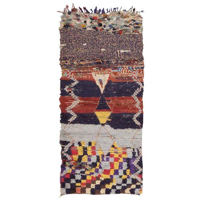 Vintage Moroccan Rug - 3′ × 6′6″ For Sale