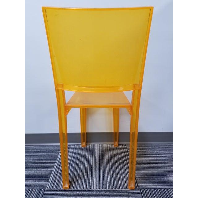 "Kartell 1990s Kartell ""La Marie"" Orange Side Chair For Sale - Image 4 of 5"