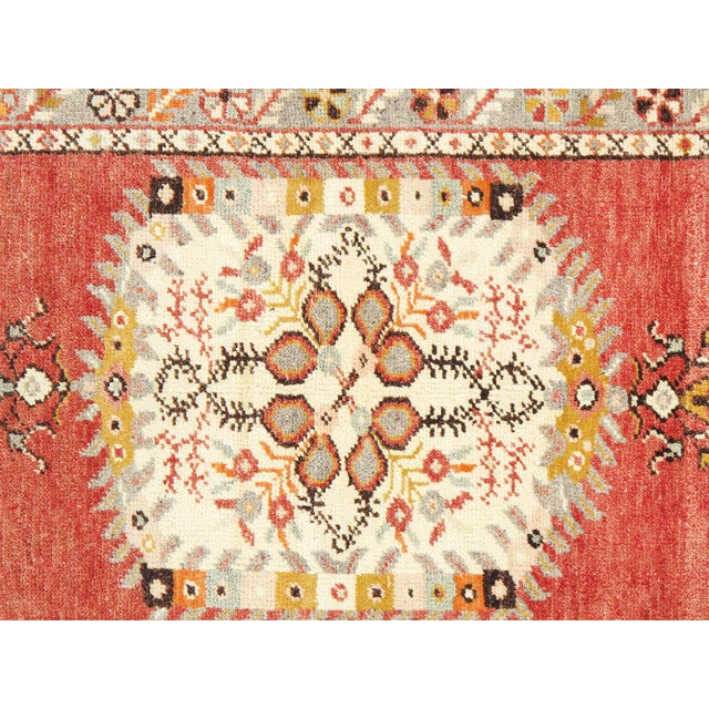 "Vintage Turkish Anatolian Wool Runner- 2'9"" x 5'6"" - Image 2 of 3"