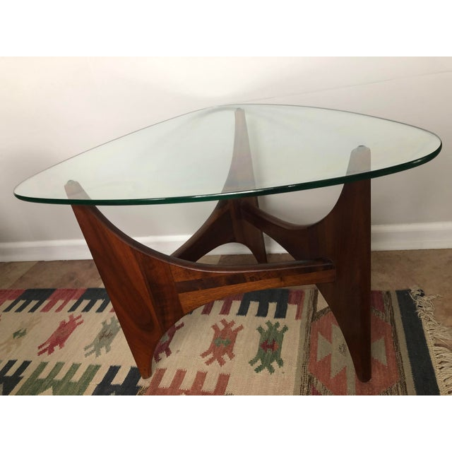 Mid 20th Century Adrian Pearsall for Craft Associates Tripod Glass Top Side Table For Sale - Image 5 of 8