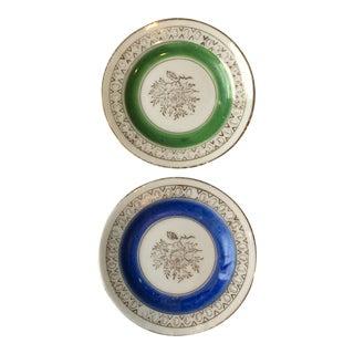 Mid 20th Century Antique Japanese Porcelain Mini Plates - a Pair For Sale