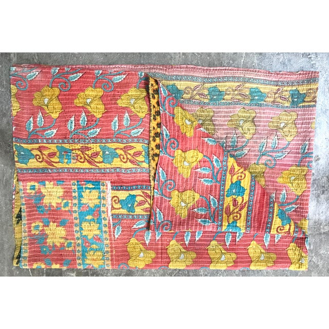 Traditional Vintage Hantha Throw Blanket For Sale - Image 3 of 5