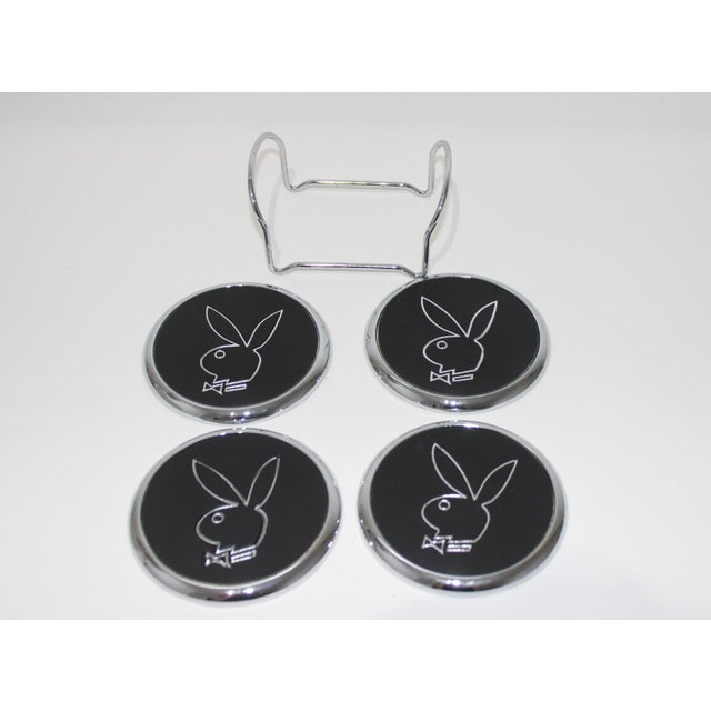 Playboy Party Collection - High and Low Glassware, Coasters Napkins, Bunny Pics -9 Items Pcs - Set of 89 For Sale - Image 4 of 12