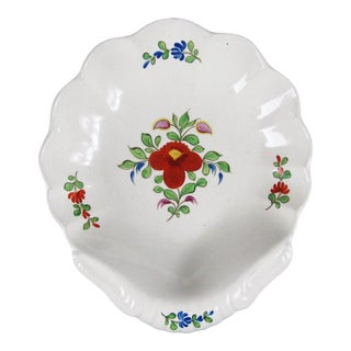"""Early 19th C. Spode """"Peasant"""" Shell Bowl - 1824-30 - England For Sale"""