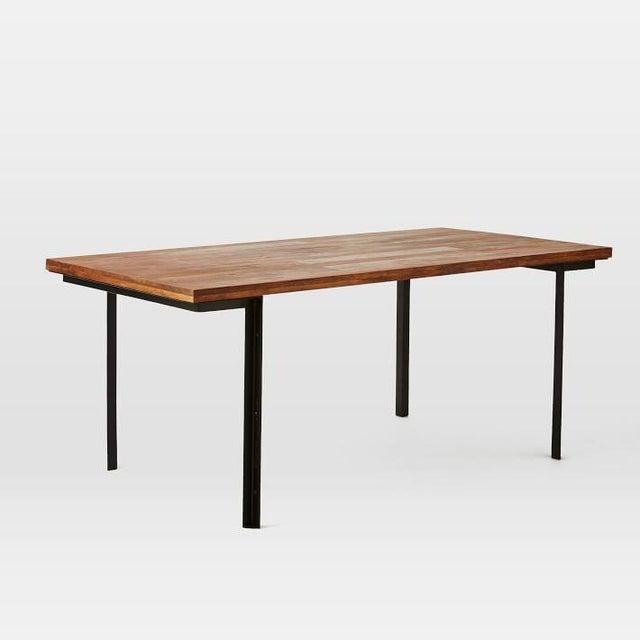 West Elm Wood & Metal Industrial Dining Table - Image 2 of 6