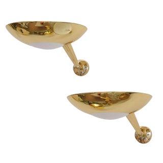 Stilnovo Gilt Bronze Sconces - A Pair For Sale