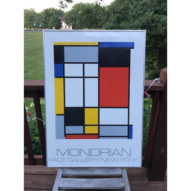 """1970s Vintage Mondrian """"The Process Works"""" Original Pace Gallery, New York Poster For Sale - Image 6 of 6"""
