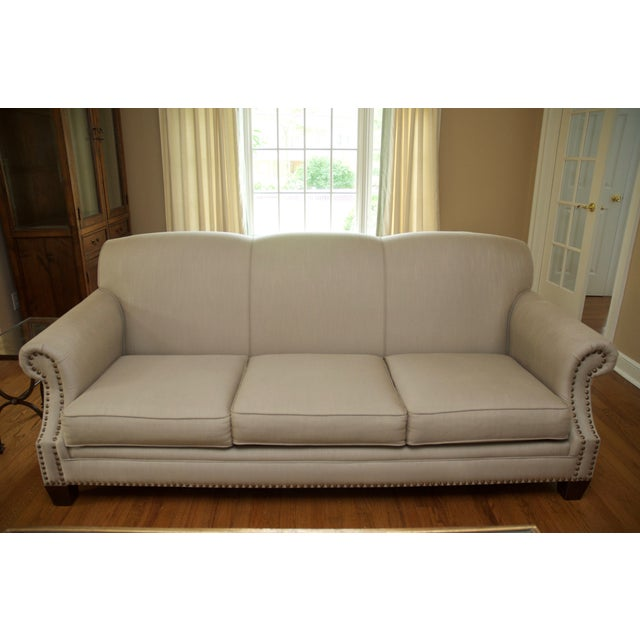 Tight Back Three Cushion Nailhead Trim Sofa - Image 4 of 7