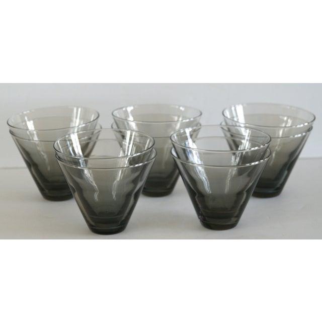 Modern Smoke Gray Cocktail Glasses - Set of 10 - Image 3 of 11