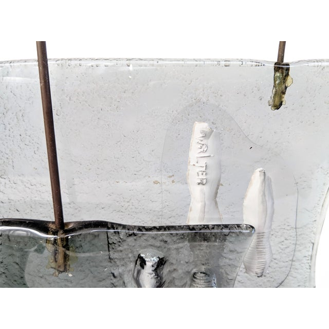 Higgins Style Studio Art Glass Sculpture on Wood Base - Image 5 of 11