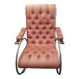 Image of Mid Century Modern Lee Woodward Rocker Sculptural Brass Rocker Rocking Chair For Sale