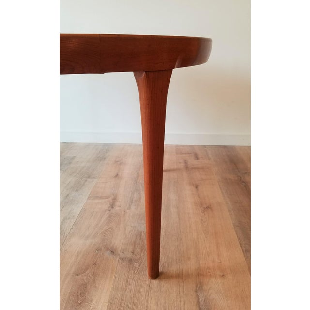 1960s Mid 20th Century Kofod Larsen Teak Circular Extendable Dining Table for Faarup Møbelfabrik For Sale - Image 5 of 8