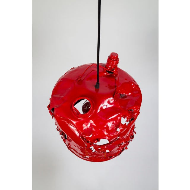 Red Gas Can Pendant Light by Charles Linder For Sale - Image 8 of 10