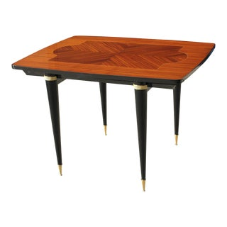1940s Art Deco Exotic Macassar Ebony Game Table For Sale