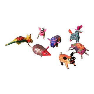 1970s Mexican Alebrijes - Set of 7 For Sale