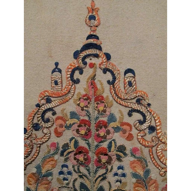 Silk 18th Century Ottoman Applique For Sale - Image 7 of 7