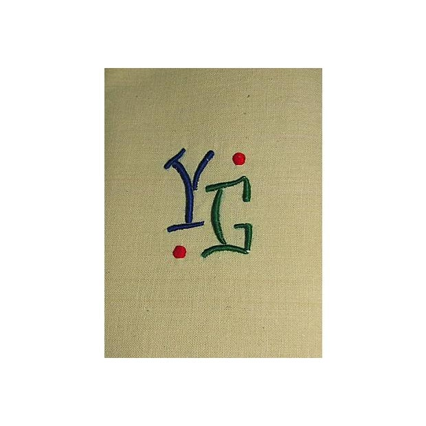 Art Deco Antique French Art Deco Monogrammed Tablecloths & Napkins - Set of 14 For Sale - Image 3 of 8