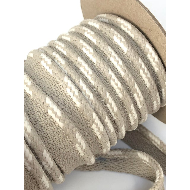 "Braided 1/4"" Indoor/Outdoor Cord in White-Ecru For Sale - Image 9 of 11"