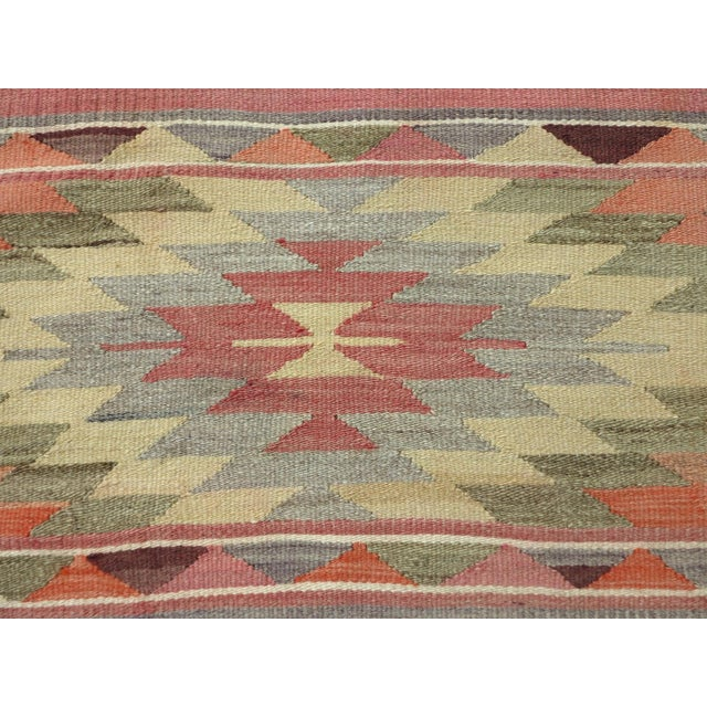 "Anatolian Kilim Runner Pastel Colored Hallway -2'1'x10"" For Sale - Image 11 of 13"