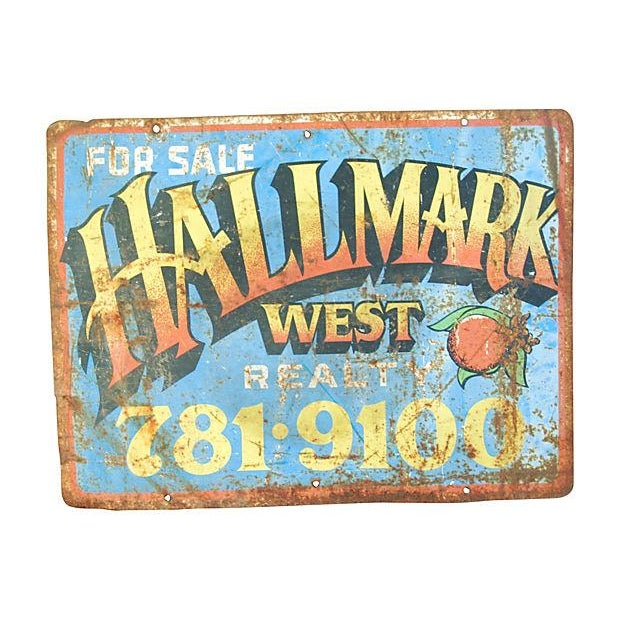 Mid-Century Colorful Hallmark Realty Sign - Image 2 of 2