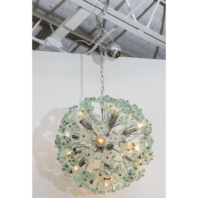 1960's Italian Green Glass Sputnik Chandelier For Sale In Miami - Image 6 of 8