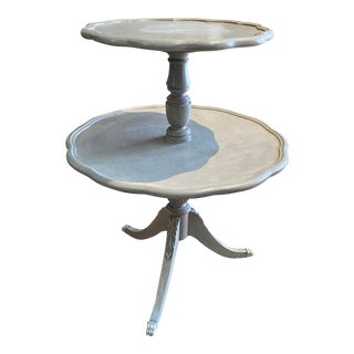 Vintage French Tiered Side Table For Sale