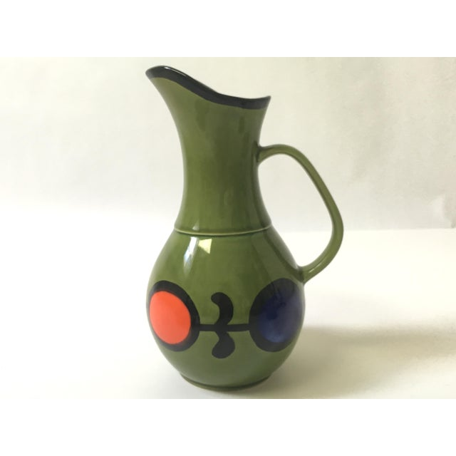 1960s Hand Painted Ceramic Pitcher & Serving Set For Sale In Buffalo - Image 6 of 8