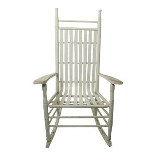 Rustic Porch Rocking Chair in Peely Paint Finish For Sale