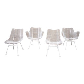 Set of 4 Mid Century Modern Russell Woodard Sculptura Chairs For Sale