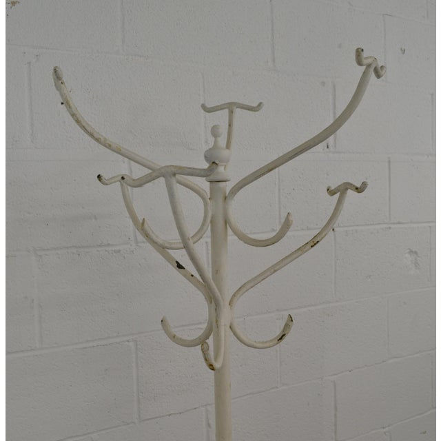 Rustic Vintage Cast and Wrought Iron Hall Tree For Sale - Image 3 of 9