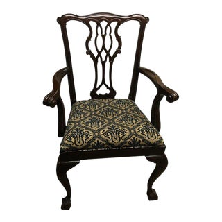 Southwood Mahogany Chippendale Desk Chair For Sale