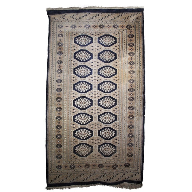 Jaldar Pakistani Wool & Cotton Rug - 2′6″ × 3′ - Image 1 of 4