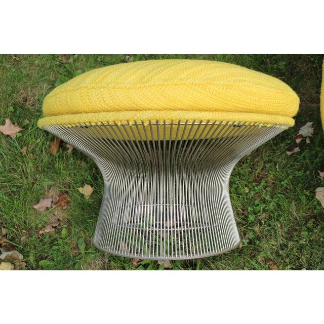 Metal 1966 Vintage Warren Platner for Knoll International Easy Chair & Ottoman For Sale - Image 7 of 10