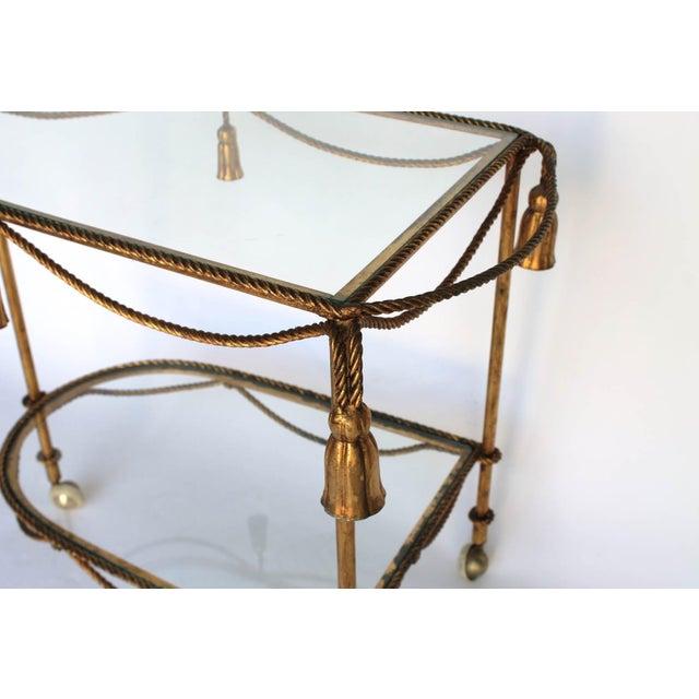 Rope & Tassel Bar Cart - Image 4 of 6