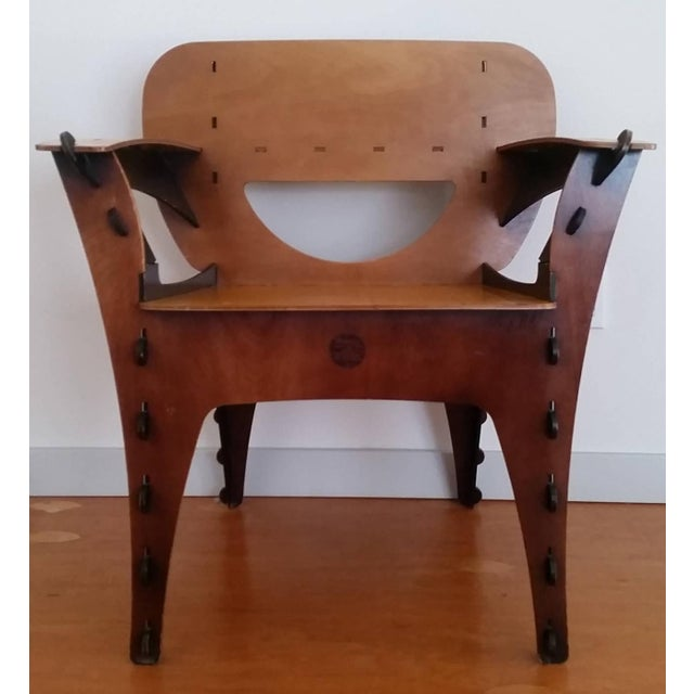Modern 1990s David Kawecki Modern Puzzle Chair For Sale - Image 3 of 7