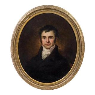 Artist Unknown 19th Century Portrait of Robert Burns Oil on Canvas