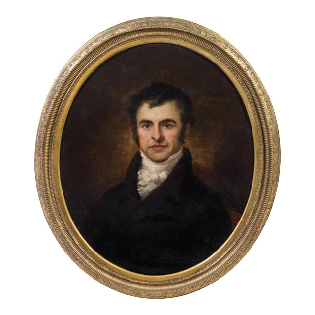 Artist Unknown 19th Century Portrait of Robert Burns Oil on Canvas For Sale